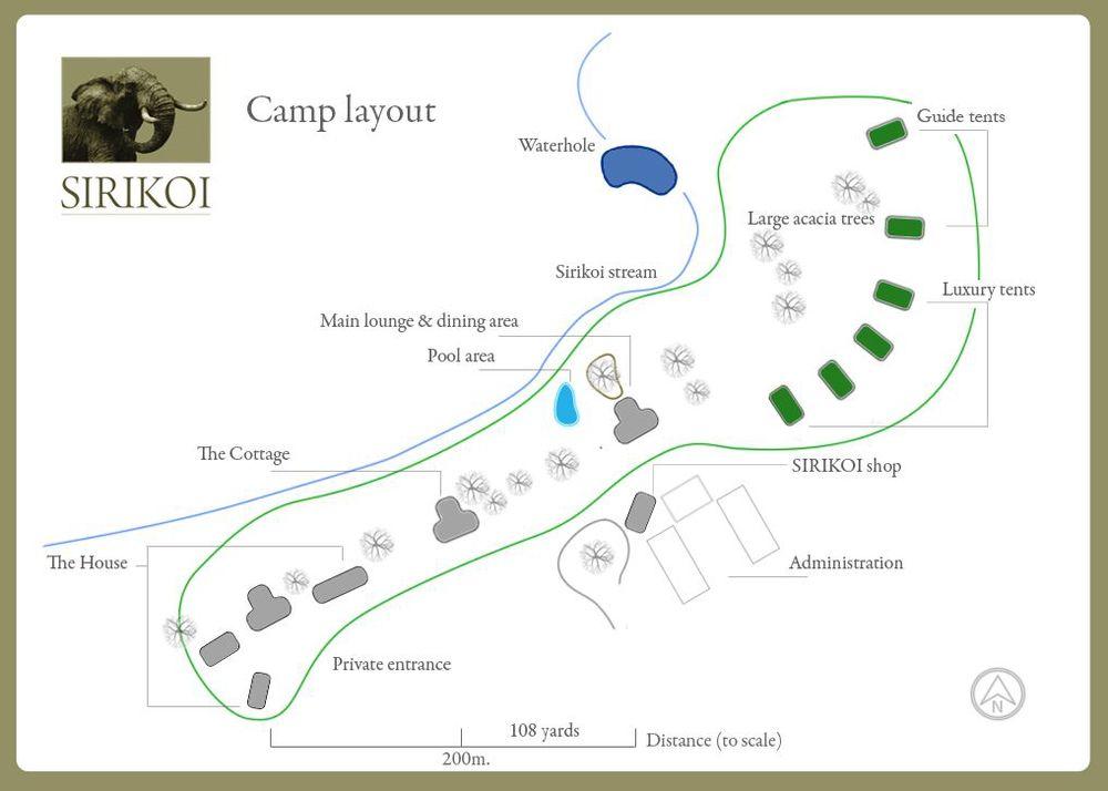 Sirikoi Camp Layout - Kenya