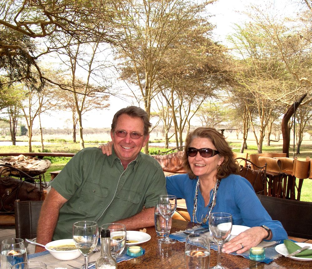 SUE AND WILLIE ROBERTS AT SIRIKOI KENYA
