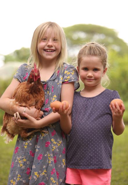 Girls & chicken & eggs.jpg
