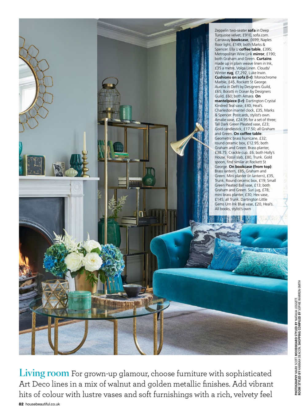 Carraway Bookcase - House Beautiful - Oct 15