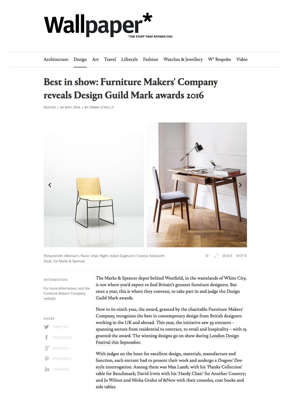 Emma O'Kelly - Editor of Wallpaper -May 2016  M&S Home