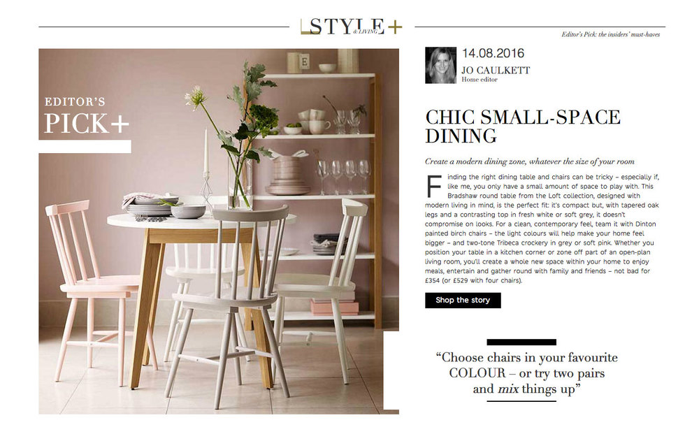 Loft Dining - Style Pick - Aug 16     M&S Home