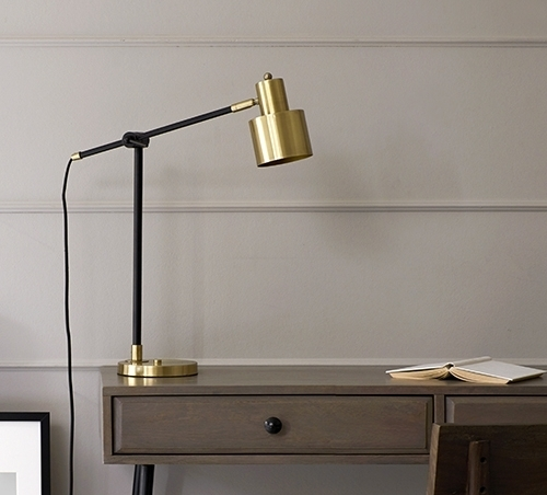 The Brass and Matte Black table lamp - a bestseller from SS17