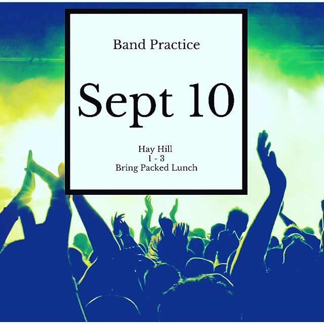 Band practice this Sunday 1 to 3! Come and make some music and see how you can influence worship in your church! Straight after youth group!