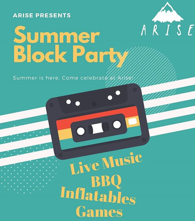 Excited to get information up about our summer Arise event! June 29th we will be heading to St Saviours for a night of summer madness! Live performances, BBQ, games, inflatables and more! 7.00 - 9.00. Free on the 29th? get yourself down to St Saviours!