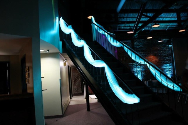 Custom LED stairs lighting