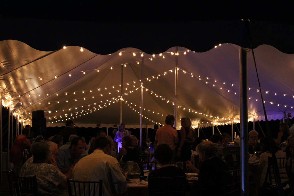 Tent Lighting 600ft of Edison Lighting