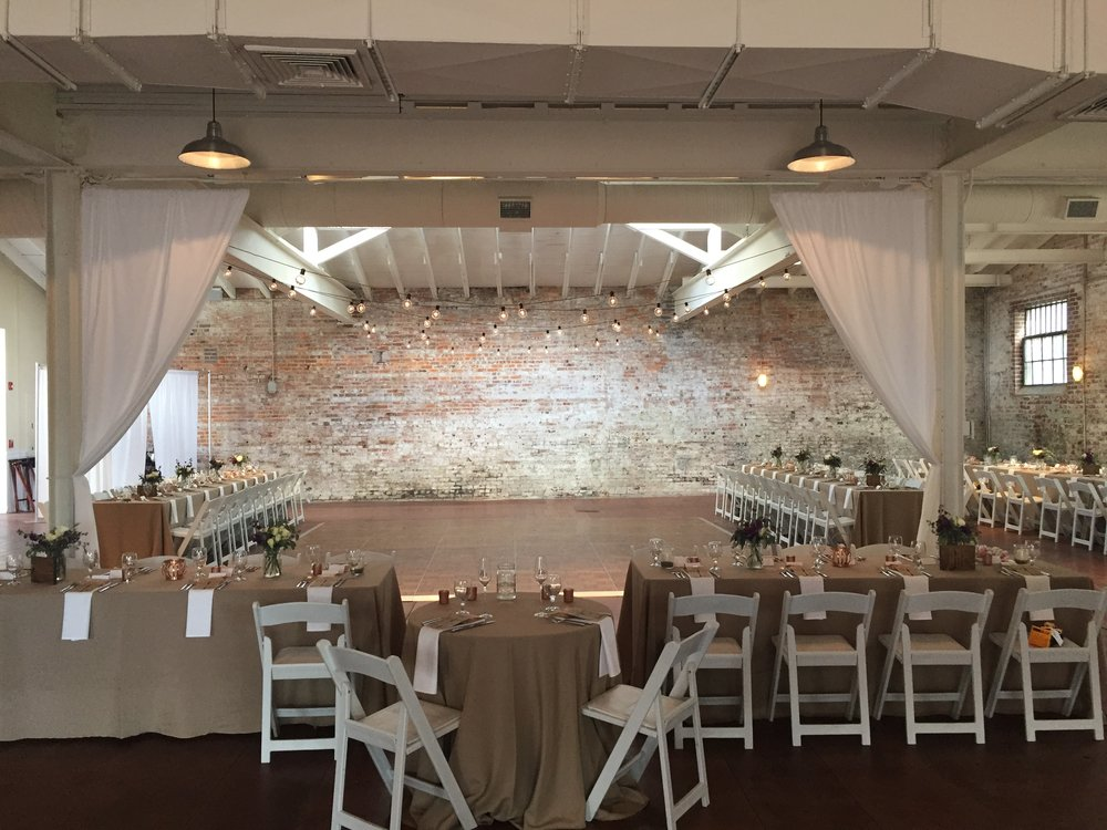 Lighting and draping at bakery 105