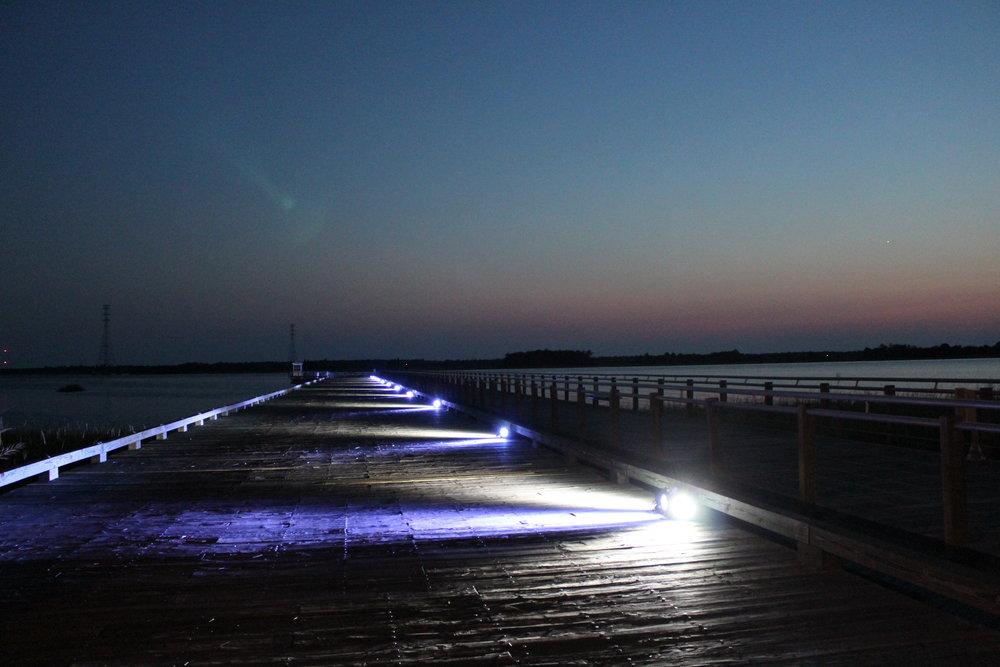 Pier Lighting (white and blue white)