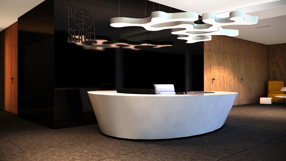 BIURO POLSERVICE    Elegancki i wysmakowany design przestrzeni biurowej – ciemne, stonowane barwy, naturalne materiały wysokiej jakości, ponadczasowe meble.   Galeria