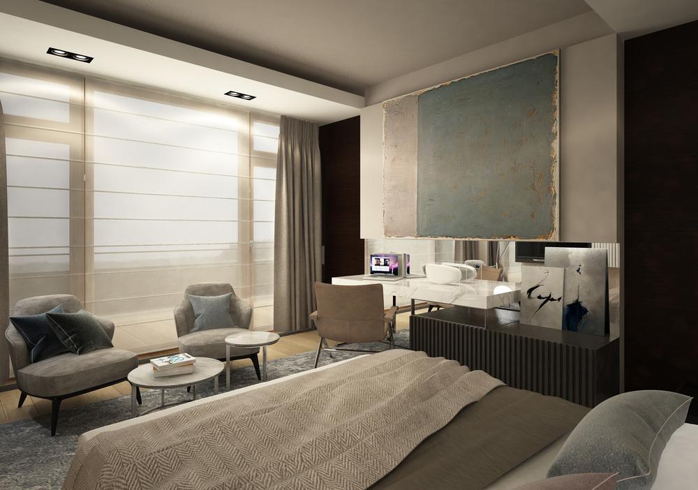 APARTAMENTY KOŁOBRZEG   Wnętrza otulone miękkimi materiałami o zróżnicowanych fakturach dających poczucie komfortu i luksusu. Całość została spięta neomedornistyczną formą.   Galeria