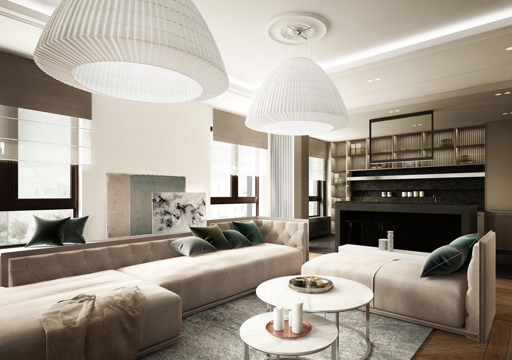 APARTAMENT WILANÓW   Klasyka w nowoczesnej odsłonie - ponadczasowy apartament zaprojektowany z naciskiem na elegancję.   Galeria