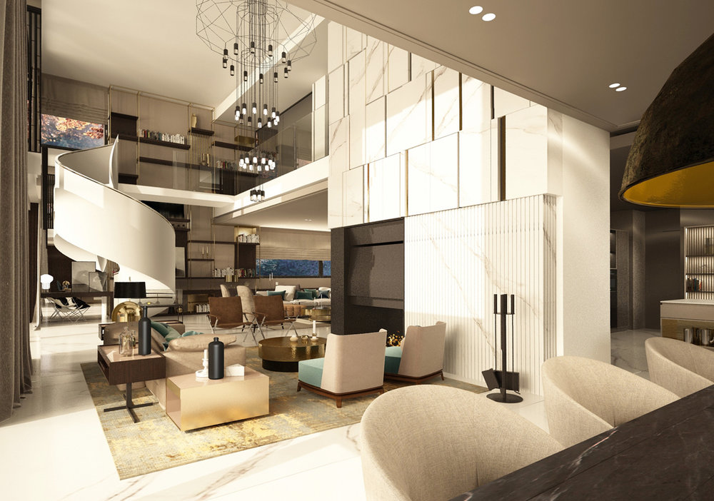 DOM MOKOTÓW   Duża powierzchnia domu pozwoliła zaprojektować wiele spektakularnych rozwiązań dzięki czemu powstały wnętrza będące kwintesencją komfortu i elegancji.   Galeria