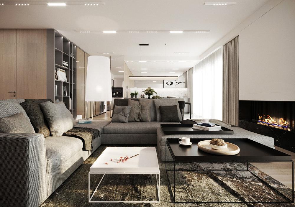 APARTAMENT ZAWADY    Elegancka nowocześność - wnętrze pełne harmonii i przytulności.   Galeria
