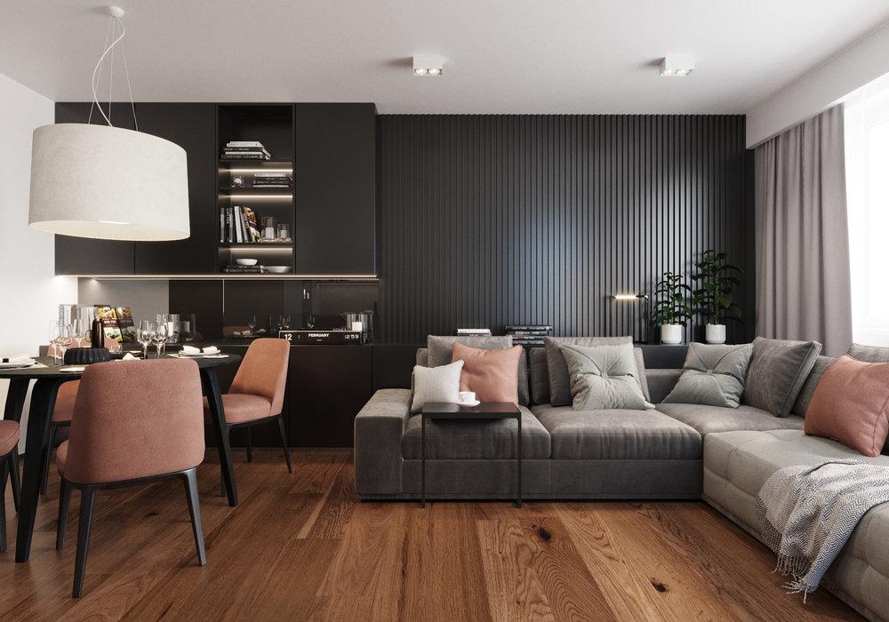 APARTAMENT ZIELONA GÓRA    Szykowny i elegancki apartament, w którego wnętrzach jednocześnie osiągnięto efekt nowoczesności.    Galeria