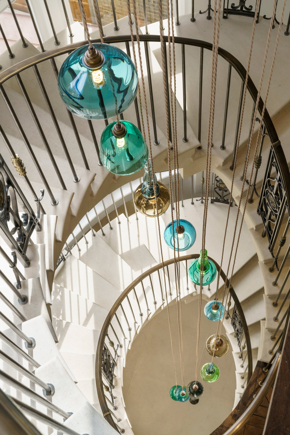 Havona House Notting Hill Chandelier Stairwell