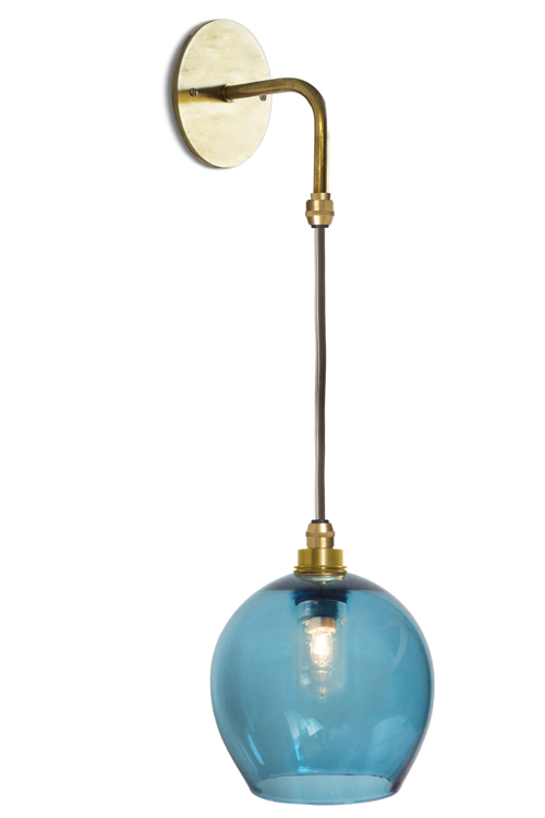Flexed Mod Wall Light with Classic Round