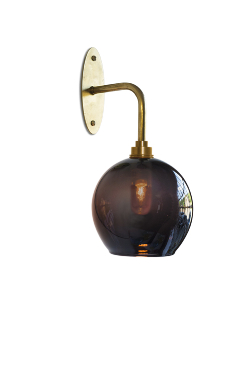 Nouveau Wall Light with Classic Round