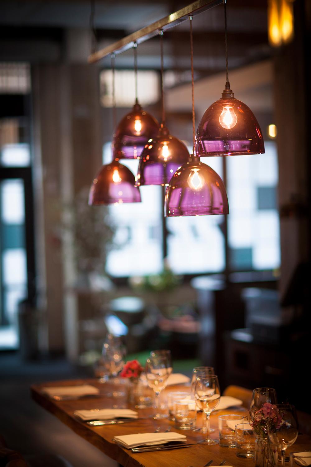 Purple Glass Pendant Lights