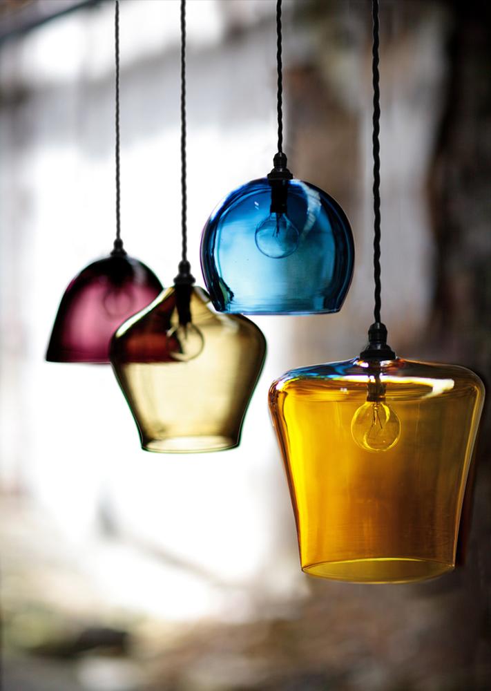 Classic Coloured Glass Pendant Lights