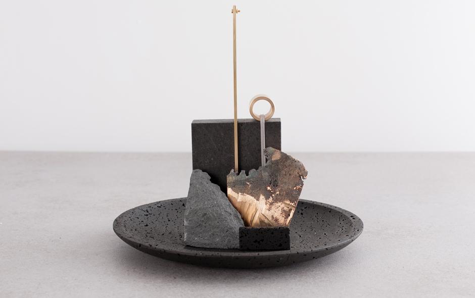 Stone and brass bowl by Formafontasma. Photo by Luisa Zanzani.