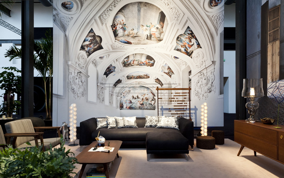 The layered Moooi installation featuring the extraordinary photography of Massimo Listri.