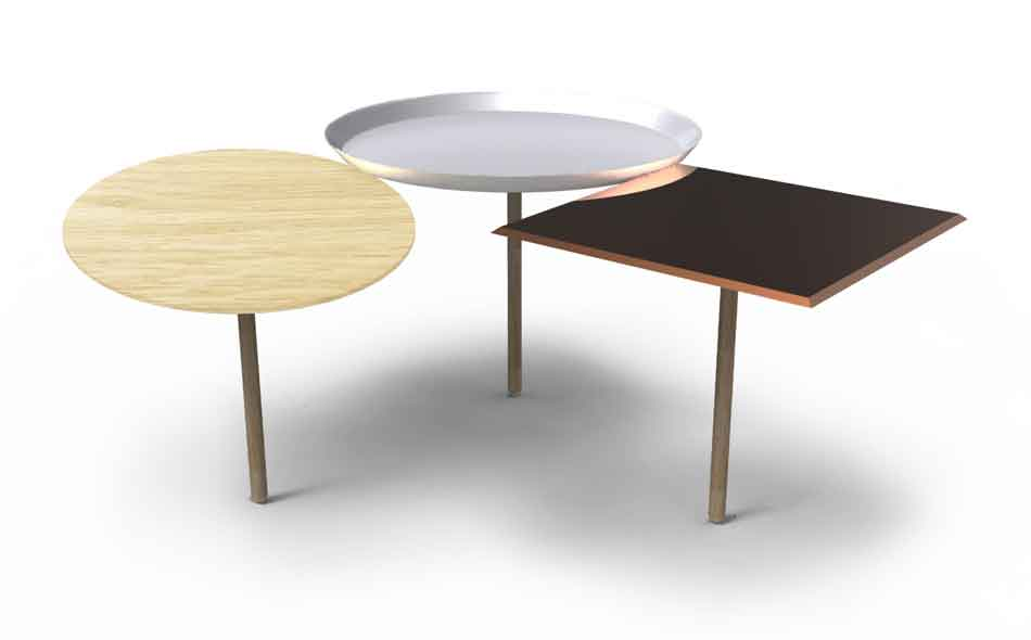 3/3 Also new for Porro this year, the nesting 3Tables for Porro.