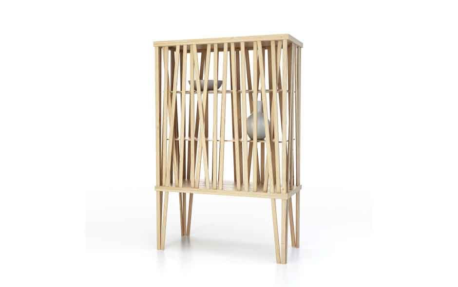 2/3 Mikado Cupboard by Front for Porro launched this year in Milan.