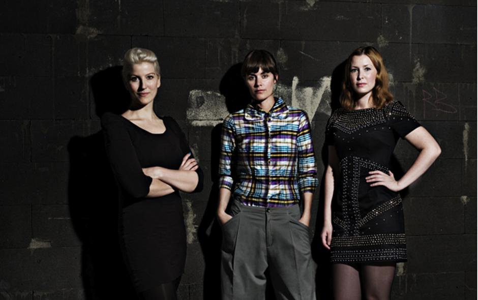 1/3 Portrait of Front's Sofia Lagerkvist, Charlotte von der Lancken and Anna Lindgren.