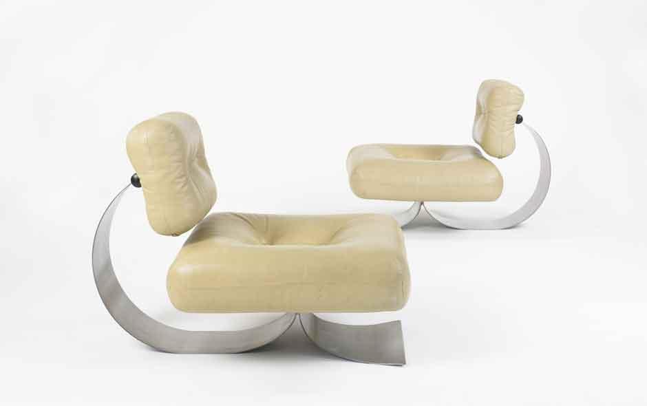 2/2 Easy chair designed by modernist Brazilian architect Oscar Niemeyer.