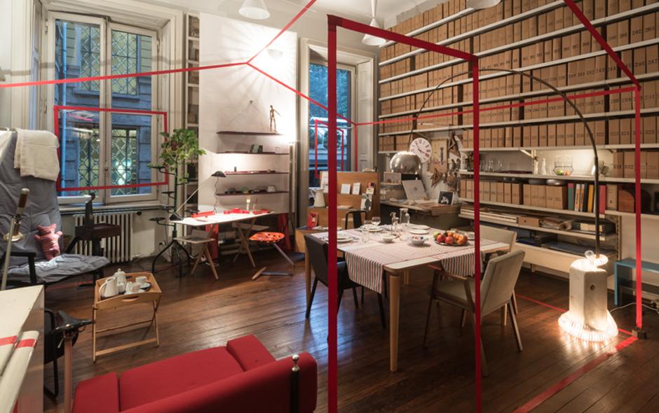 2/2 Inside Studio Museum Achille Castiglioni and the exhibition 'Casa Castiglioni' currently on show.