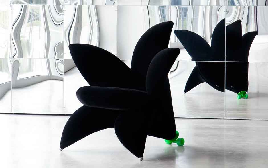 12/20 The Flower Collection by Japanese designer Massanori Umeda includes the famous Getseun armchair.