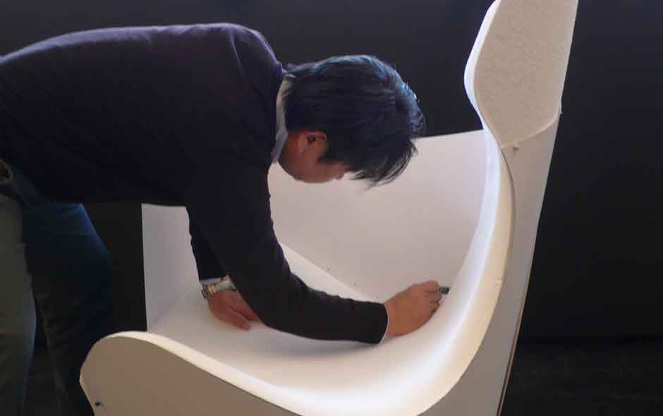 2/12 Inside B&B Italia's Centre of Design & Research with Naoto Fukasawa during the development of Papilio.