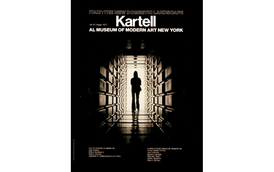 3/5 The 1972 exhibition 'Italy: The New Domestic Landscape' at the Museum of Modern Art in New York featured the work of Anna Castelli Ferrieri and Kartell.