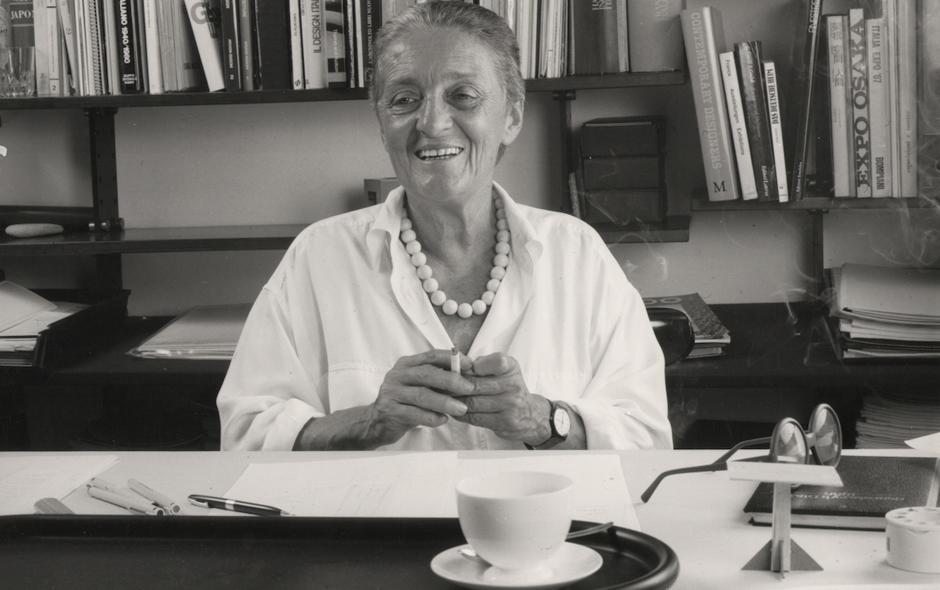 1/5 Anna Castelli Ferrieri in her Milan studio.