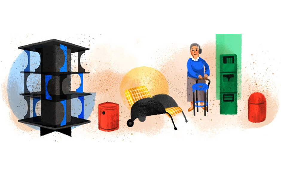 5/5 Google Italy celebrated the birthday of Anna Castelli Ferrieri with a homepage doodle in 2014.