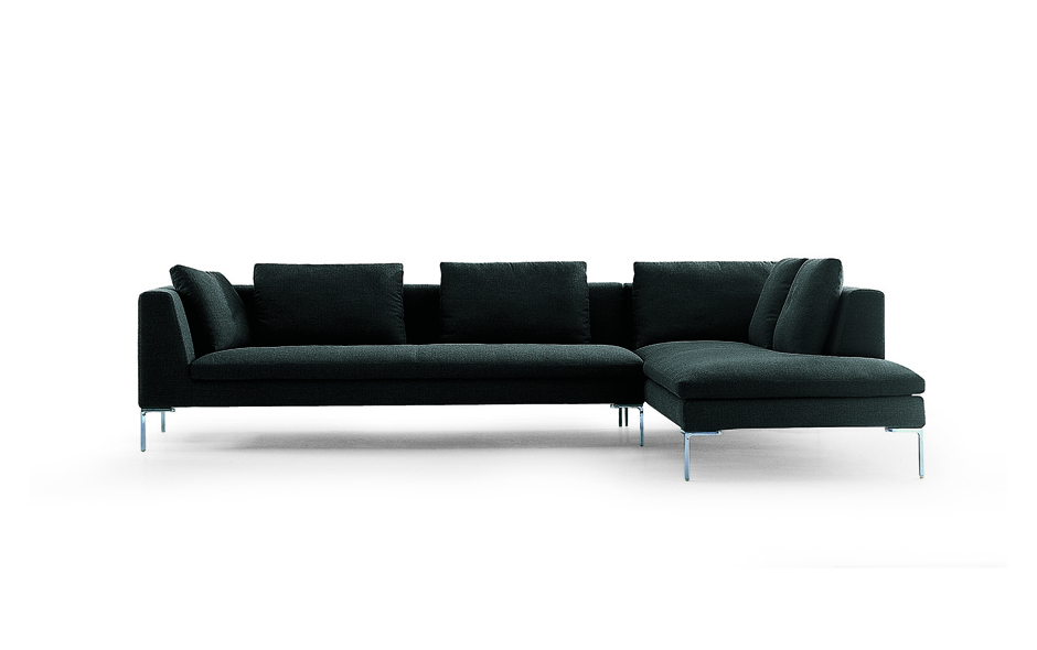 3/5 The Charles sofa by Antonio Citterio launched in 1997 and is one of B&B Italia's most successful sofas. It is now produced in a number of variations.