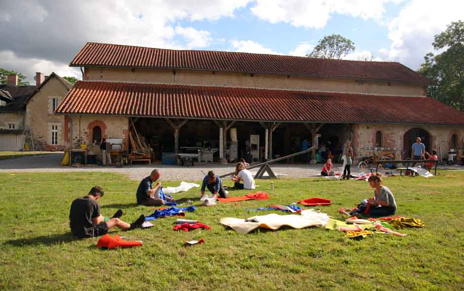 3/11 The workshops in the grounds of Boisbuchet, with accommodation for the participants beyond.