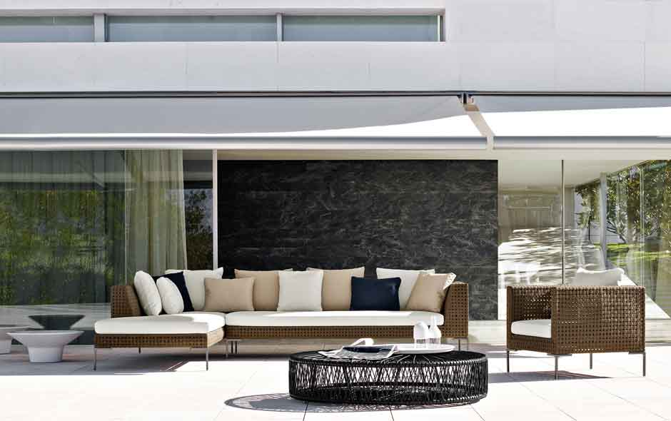 4/8 The classic Charles sofa designed by Antonio Citterio was relaunched for the outdoors in 2011.