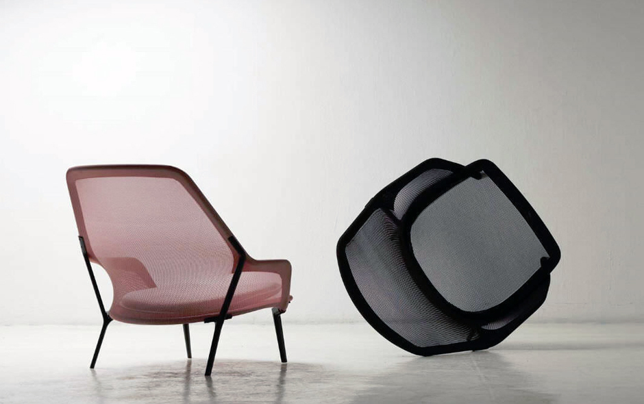 6/6 Low and reclining, the Slow chair by the Bouroullecs for Vitra.