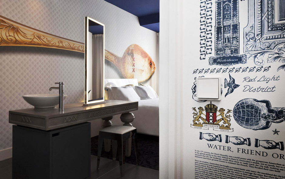 1/3 Inside a highly decorative suite in the Andaz Amsterdam Prinsengracht.