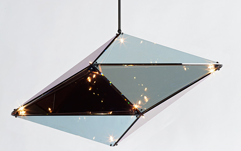 1/3 Maxhedron chandelier by Bec Brittain for Roll & Hill.