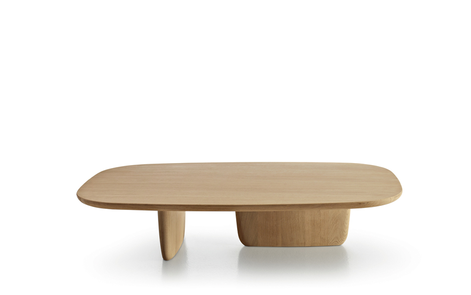 3/5 The new Tobi-Ishi in solid wood and smaller in size for the lounge room, designed by Barber Osgerby for B&B Italia.