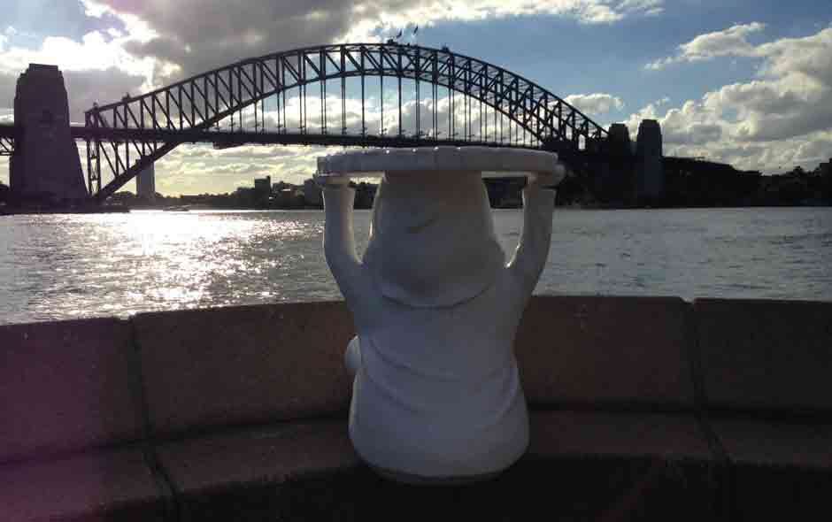 1/4 Attila takes in Sydney harbour.