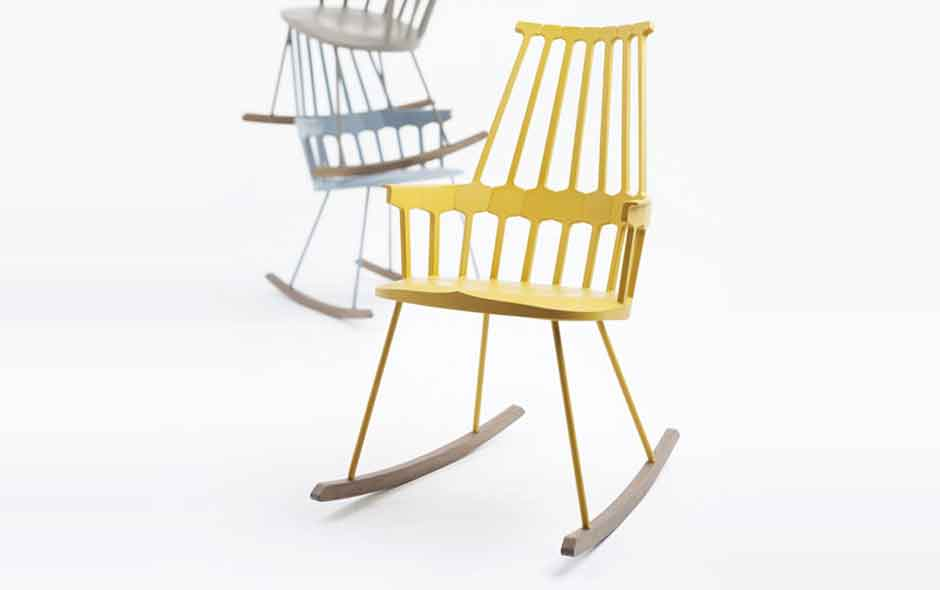 7/8 The new rocking Comback chair by Patricia Urquiola.