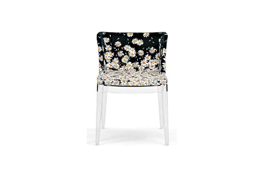 5/5 Mademoiselle upholstered in Missoni fabric by Philippe Starck for Kartell.