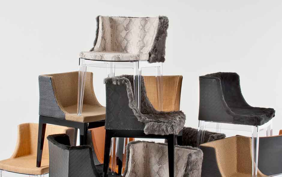 3/19 Philippe Starck's Mademoiselle chair re-visited by musician/designer Lenny Kravitz.