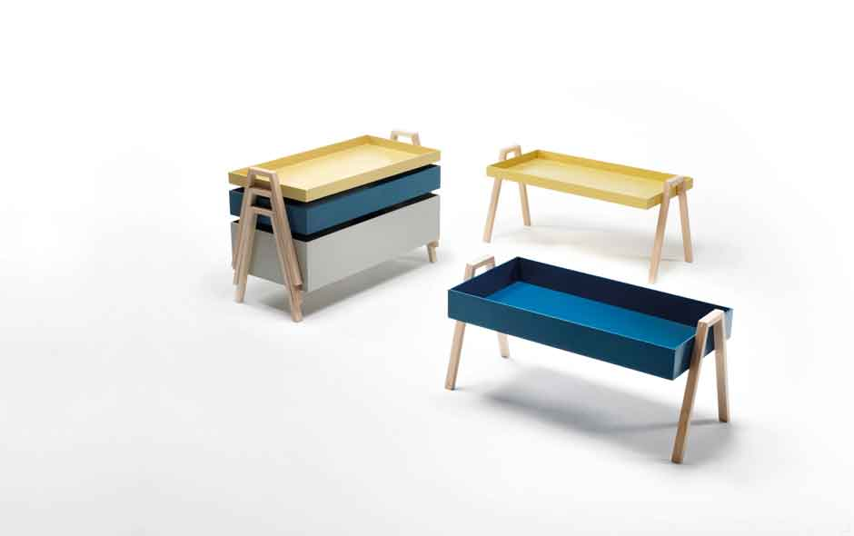 7/19 Cute and stackable timber tables by Nathan Yong for Living Divani.