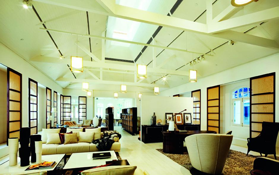 6/7 The Giorgetti showroom designed by architect Chi Wing Lo inside The Villa.