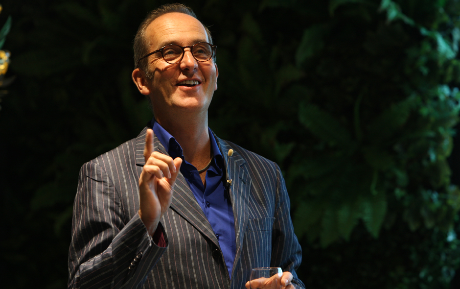1/5 Kevin McCloud at his recent speaking engagement at Space Furniture Sydney.